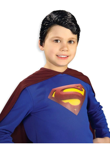 Superman Vinyl Wig For Children