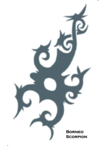 Tattoo Tribal Borneo Scorpion