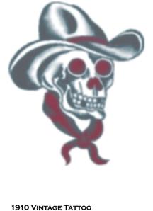 Tattoo Vintage Skull Cowboy