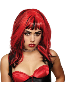 Wig For Hard Rockin Witch Black Red