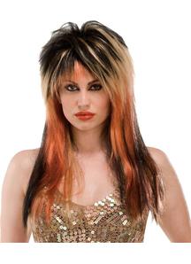 Wig For Punk Diva Blk/Blnde/Copper
