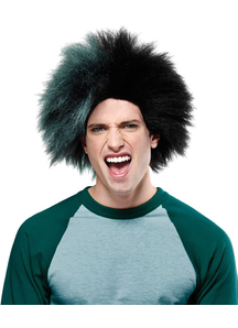 Wig For Sports Fan Black Green