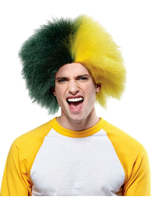 Wig For Sports Fun Green Gold