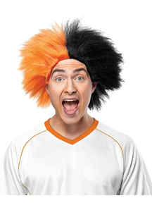 Wig For Sports Fun Orange Black