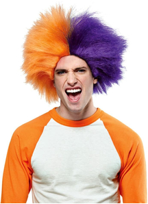 Wig For Sports Fun Orange Purple