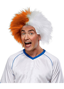 Wig For Sports Fun Orange White