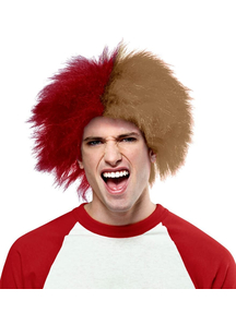 Wig For Sports Fun Red Gold