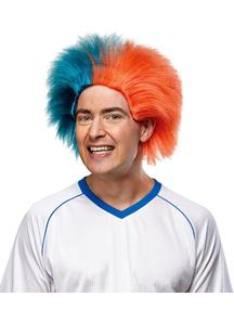 Wig For Sports Fun Teal Orange