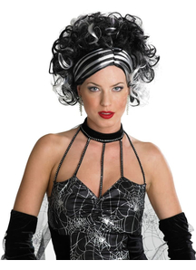 Wig For Wicked Widow Black/White
