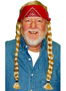 Wig The Old Hippie With Bandana