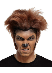 Wolfman Wig For Halloween Brown