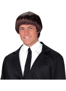 60S Band Member Brown Wig For Men - 17875