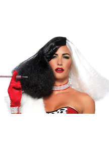 Black White Wig For Disco Diva