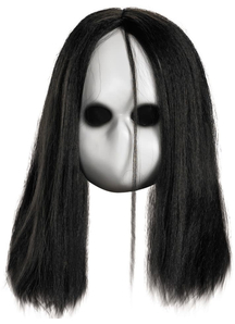 Blank Black Eyes Doll Mask For Halloween