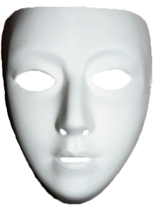 Blank Female Mask For Adults