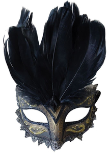 Carnivale Eye Mask Black Gold For Masquerade