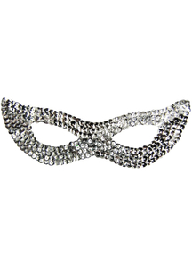 Cat Mask Sequin Silver For Adults