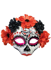 Day Of Dead Skull Mask For Women