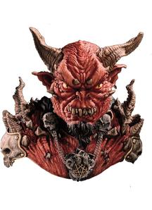 El Diablo Mask & Shoulders For Halloween