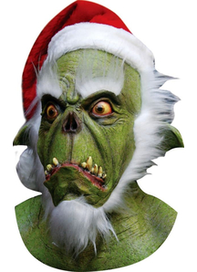 Green Santa Latex Mask For Halloween