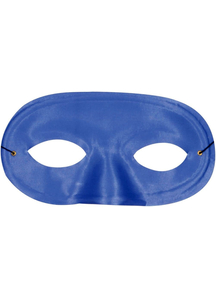 Half Domino Mask Blue For Adults