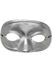 Half Domino Mask Metallic Silv For Adults
