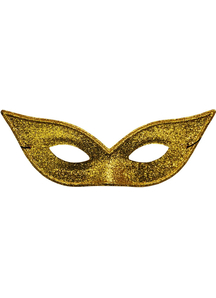 Harlequin Mask Lame Gold For Adults