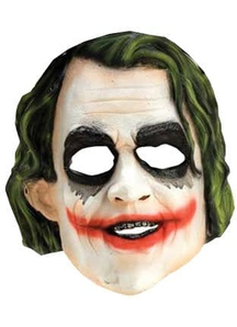 Joker 3/4 Vinyl Mask For Children
