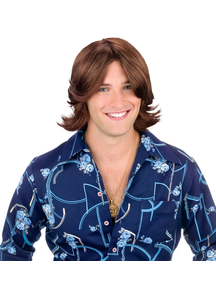 Ladies Man Brown Wig For Adults