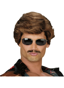 Leading Man Brown Wig For Adults