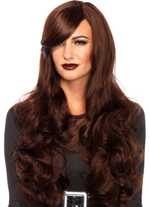 Long Wavy Brown Wig