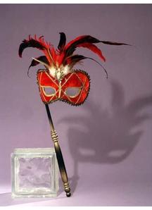Masquerade Venetian Mask Red