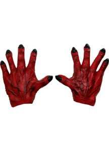 Monster Hands Red Latex For Adults