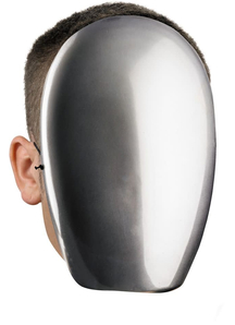 No Face Chrome Mask For Halloween