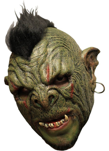 Orc Mok Dlx Chinless Latex Mask For Halloween