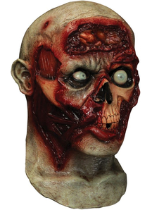 Pulsing Zombie Brains Digital Mask For Halloween