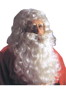 Santa Wig And Beard Reg White