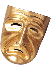 Tragedy Mask Gold For Masquerade