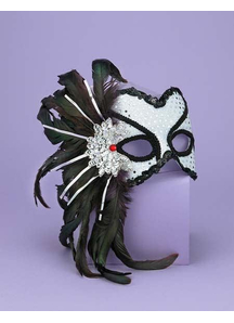 Venetian Couple Mask Wt/Bk For Adults