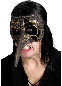 Venetian Raven Mask Black For Masquerade