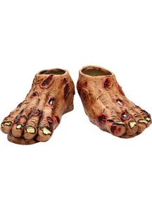 Zombie Flesh Latex Feet For Adults