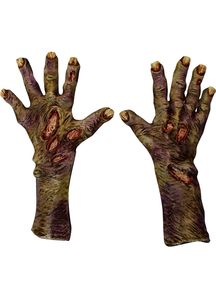 Zombie Rotted Large Latex Gloves For Adults