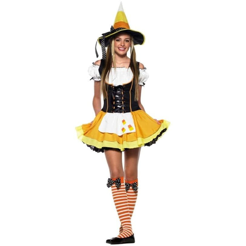 Yellow Corn Witch Teen Costume