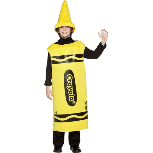 Yellow Crayola Pencil Teen Costume