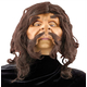 Caveman Mask With Hair For Adults