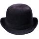 Derby Hat Black Felt Large For All