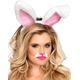 Bunny Ears Plush White