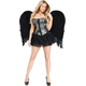 Angel Wings Feathr Adlt Blk